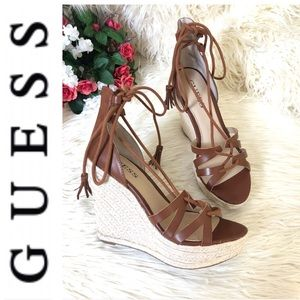 "NWT Guess ""Ollina"" Platform Wedge Sandals"